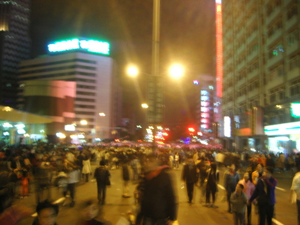 擁擠的人潮
