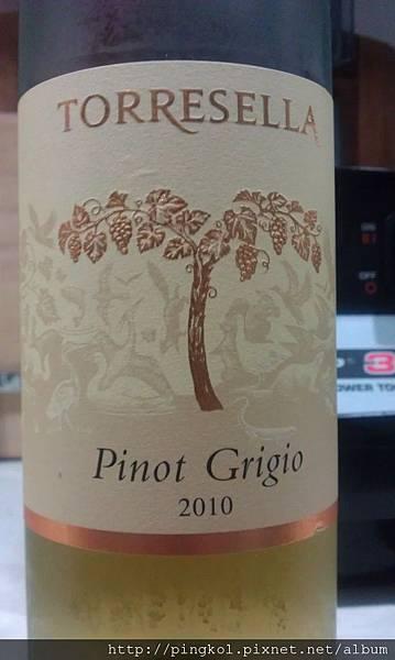 慢時漫遊@酒記。Torresella Pinot Grigio 2010