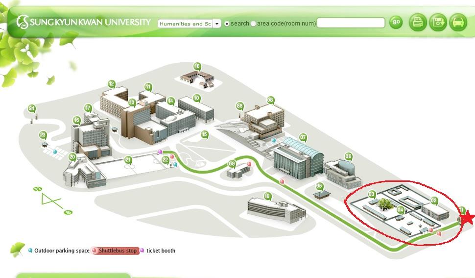 成均館大學接駁車路線圖