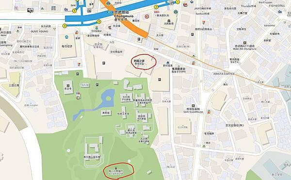 韓國之家地圖