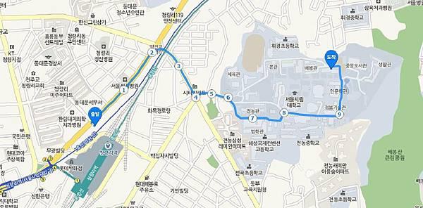 考試院語學堂地圖