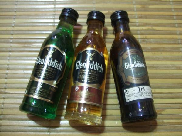 三瓶小酒排排站