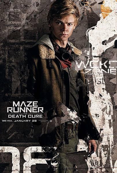 《移動迷宮:死亡解藥》紐特Newt /湯瑪士.桑斯特 飾