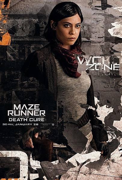 《移動迷宮:死亡解藥》布蘭妲Brenda /羅莎.薩拉查 飾