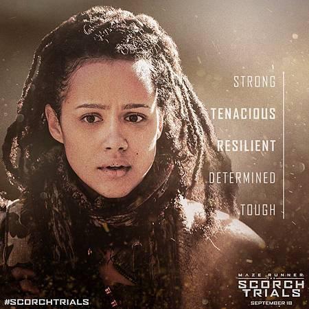 《移動迷宮:焦土試煉》海莉葉Harriet  /娜塔莉,伊曼紐爾Nathalie Emmanuel飾