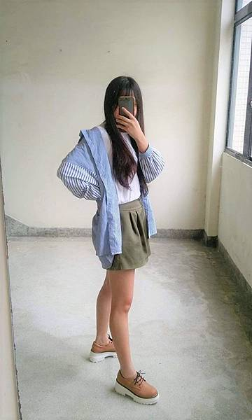 ShoesN荔枝紋厚底德比鞋/皮鞋