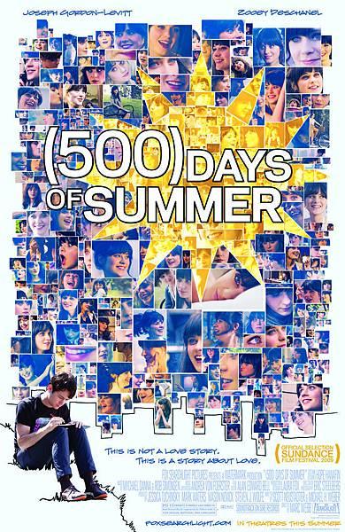 《戀夏(500日)》原版海報