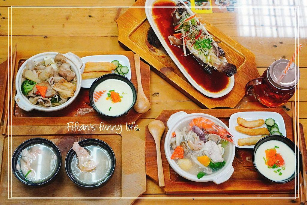 基隆瑞芳八斗子車站 霧茶精緻簡餐  海鮮套餐 松阪豬套餐
