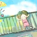 今天,我【 是在屋頂上曬太陽的爽人】