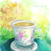 今天,我【想坐在院子裡喝熱呼呼的茶 】