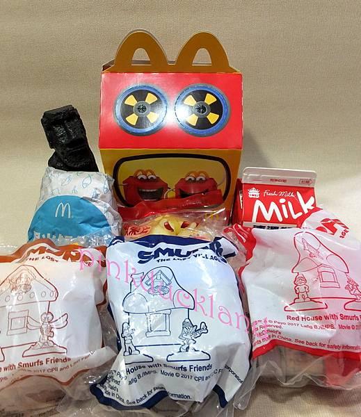 2017-04月 麥當勞玩具 電影 藍色小精靈3:失落的藍藍村 全8款