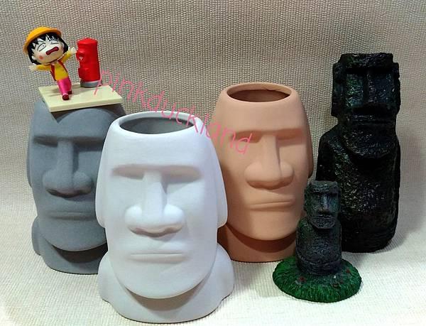 古文明 摩艾 巨石像 Moai 花盆