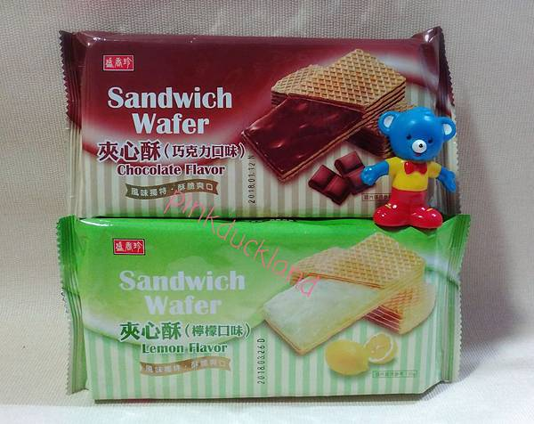 新包裝 盛香珍 夾心酥 巧克力%2F檸檬 威化餅