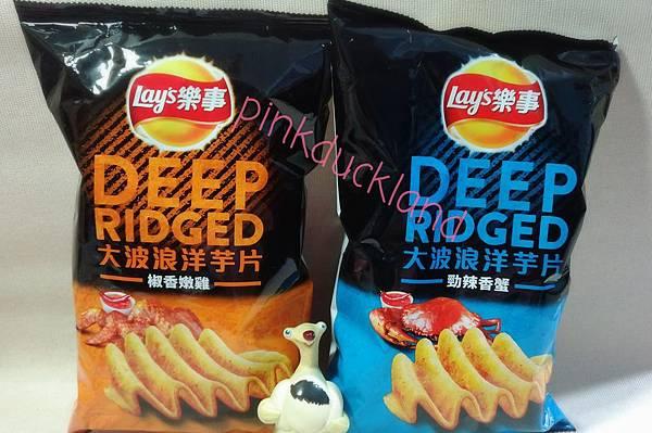 樂事 Lay%5Cs Deepridged 大波浪洋芋片 椒香嫩雞 %2F勁辣香蟹 洋芋片 零食 餅乾