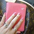 可愛ㄉ桃紅指甲