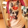 超可愛的兔子加桃紅衣