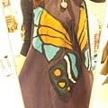 紫色大蝴蝶洋裝