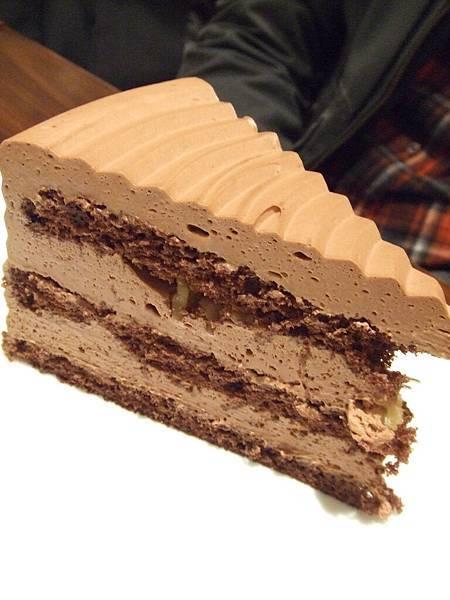 濃濃的巧克力蛋糕