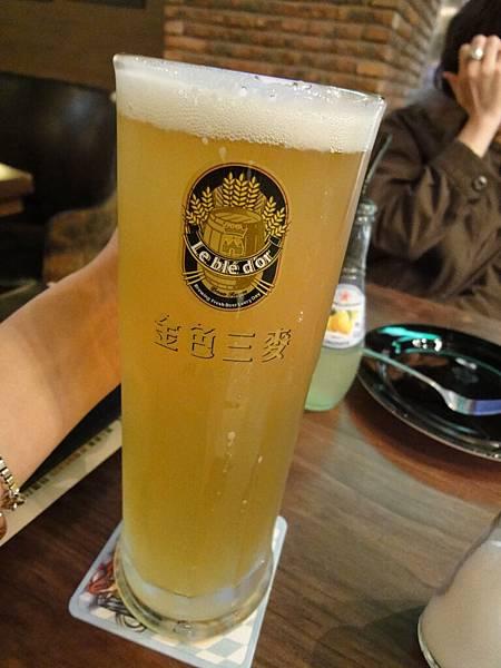 500cc的蜂蜜啤酒