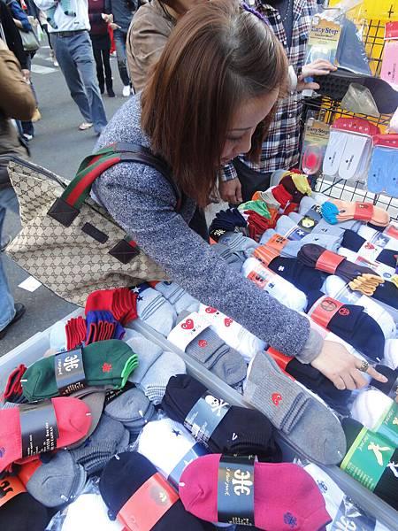 選襪子ㄉ妞