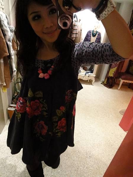 藍紫色刺繡衣