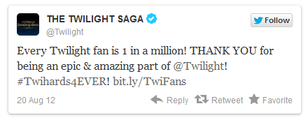 Twilight Twitter Hits 1 Million Followers!
