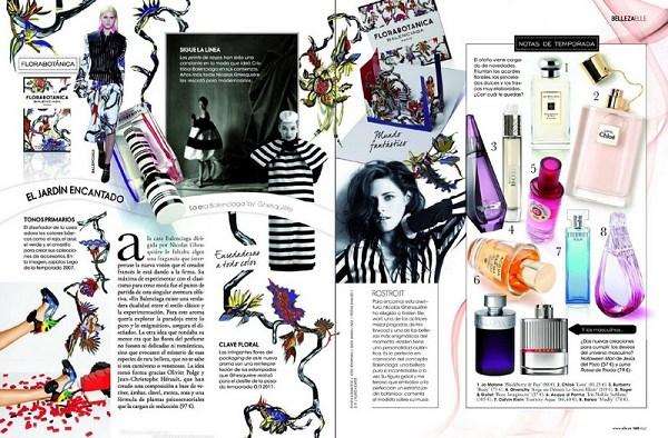西班牙ELLE 2012年九月號-巴黎世家「Florabotanica」代言雜誌照-20120823(2)
