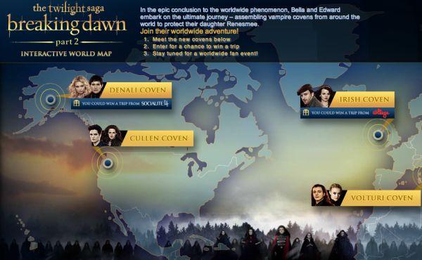 Twilight 吸血鬼世界地圖
