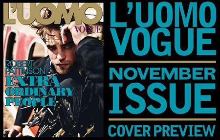 2012 Rob 登上「L'Uomo Vogue」十一月號(1)