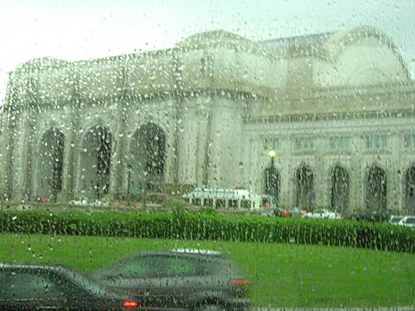 Union Station in the rain