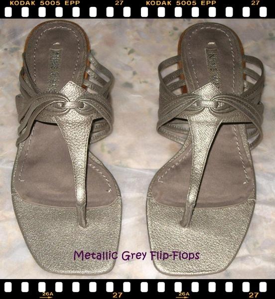 Nine West Metallic Grey Flip-Flops.JPG