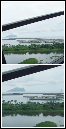 可以看到龜山島和烏石港