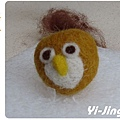 羊毛氈。貓頭鷹