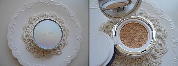 LANEIGE 蘭芝 水聚光淨白氣墊粉霜 3D菱格紋