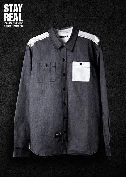 STAYREAL Oxford shirt 牛津襯衫(BLACK)