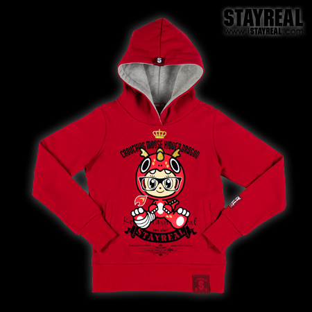 20120112-4STAYREAL Crouching Mouse Hidden Dragon Hoodie臥鼠藏龍帽T(紅標合身版)