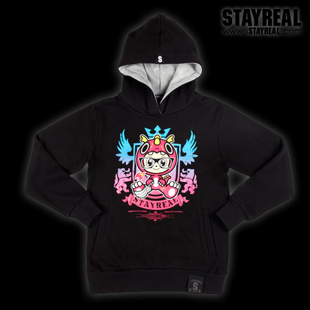 STAYREAL Crouching Mouse Hidden Dragon Hoodie臥鼠藏龍帽T(黑標潮流版)