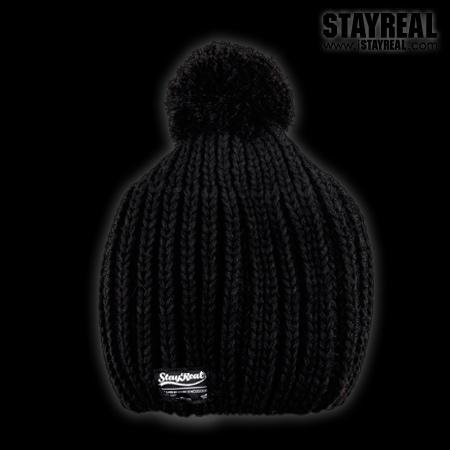STAYREAL Pom Pom Beanie 球球毛帽(BLACK)