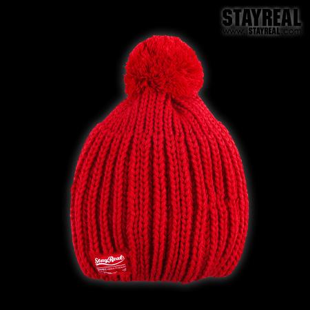 STAYREAL Pom Pom Beanie 球球毛帽(RED)