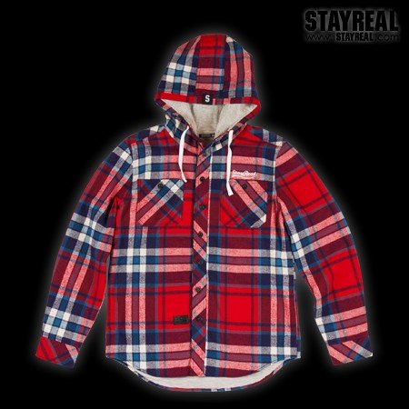 STAYREAL Warm Hooded Jacket 連帽暖暖外套(BLUEXRED)