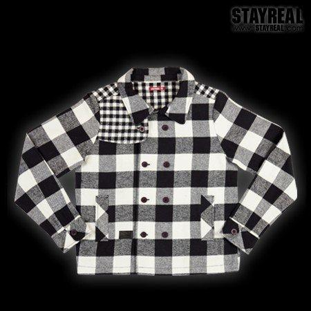 STAYREAL British Style Jacket 英倫風外套(blackxwhite)