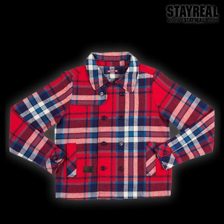 STAYREAL British Style Jacket 英倫風外套(bluexred)