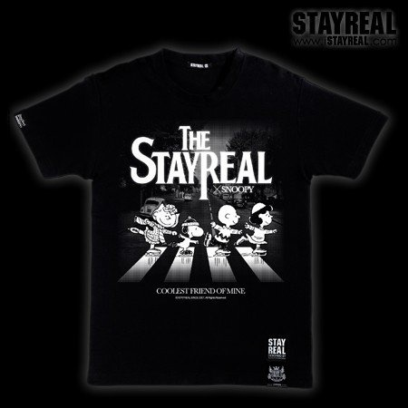 STAYREAL SNOOPY The Beatles T 史努比披頭四T(黑標潮流版)