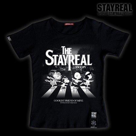 STAYREAL SNOOPY The Beatles T 史努比披頭四T(紅標合身版)