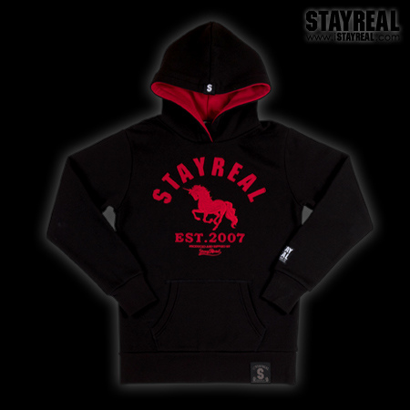STAYREAL Classic Unicorn Hoodie 獨角獸經典帽T(black)