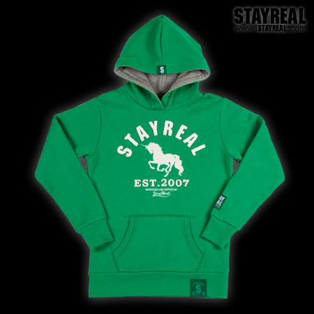 STAYREAL Classic Unicorn Hoodie 獨角獸經典帽T(green)