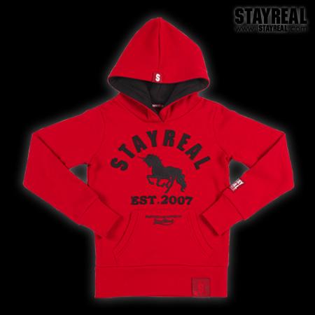 STAYREAL Classic Unicorn Hoodie 獨角獸經典帽T(red)