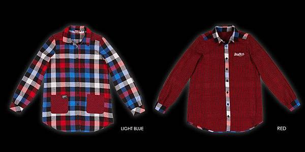 STAYREAL Preppy Style 2-Way Wear Shirt  美式校園雙面襯衫 ─ 修身加長版(Light Blue x Red 雙面穿搭)