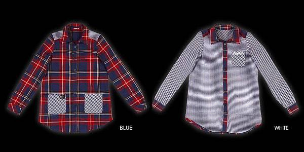 STAYREAL Preppy Style 2-Way Wear Shirt 美式校園雙面襯衫 ─ 修身加長版(Blue x White 雙面穿搭)
