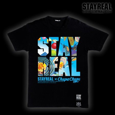 STAY REAL X Chupa Chups Lollipop T (定番棒棒糖T)